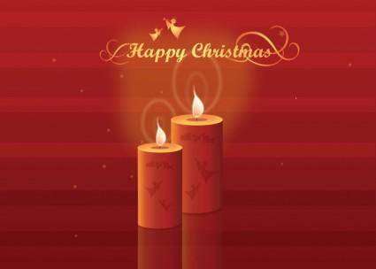 free vector Christmas Candles