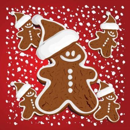free vector Christmas Gingerbread