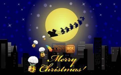 free vector Free Christmas Card