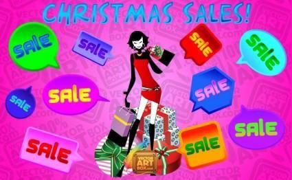 free vector Christmas Sales