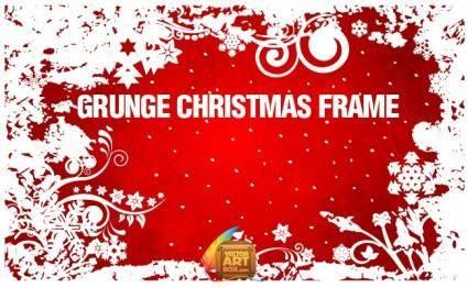 free vector Grunge Christmas Frame