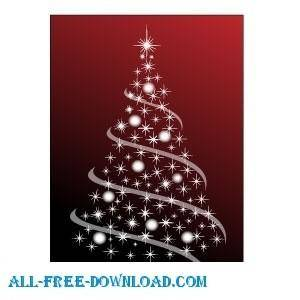 free vector Christmas Tree Vector 2