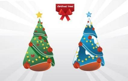 free vector Christmas trees vector