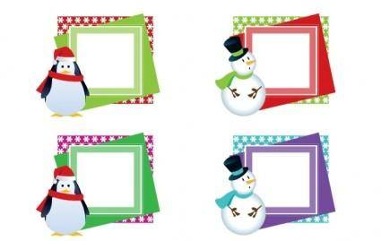 CHRISTMAS VECTOR FRAMES