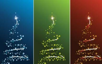 free vector STYLIZED VECTOR CHRISTMAS TREE SET