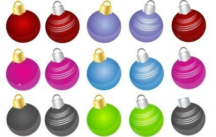 free vector 24 Free Christmas Vector Balls