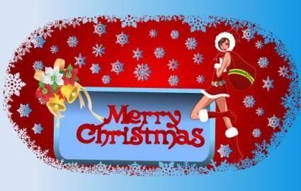 free vector Christmas Frame