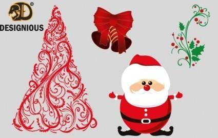 free vector Vector christmas elements