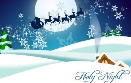Winter, Christmas, Santa Claus, Reindeer Vectors