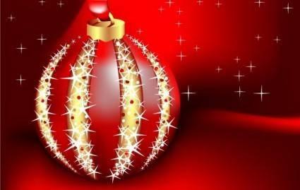 free vector Beautiful vector christmas card