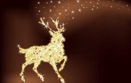 free vector Magic christmas reindeer