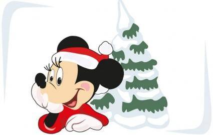 Christmas free vector art and Mickey Mouse