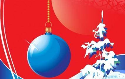 Blue Christmas Vector Design Theme