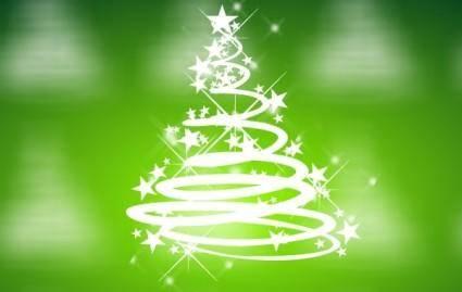 free vector Cool Green Christmas Vector