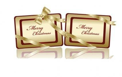 free vector Free Golden Christmas Tags