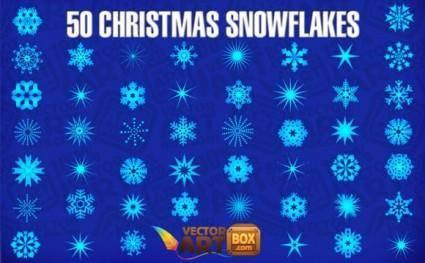 free vector 50 Christmas Snowflakes