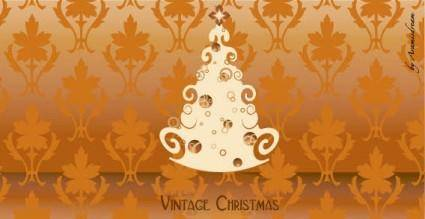 Vintage christmas free vector
