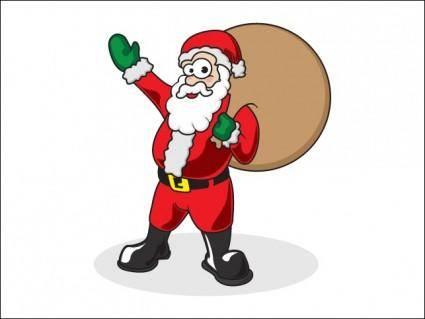 free vector Father Christmas