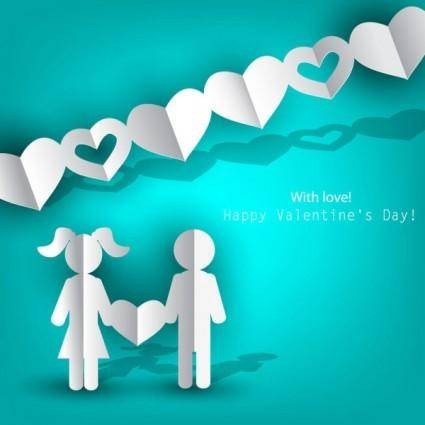 Valentine label elements 05 vector