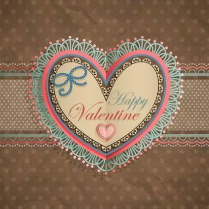 free vector Valentine39s day heartshaped tag 04 vector