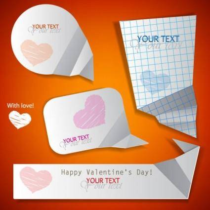 free vector Valentine label elements 06 vector