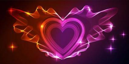 Gorgeous light of valentine39s day 01 vector