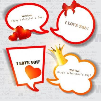 Valentine39s day decorative elements 03 vector