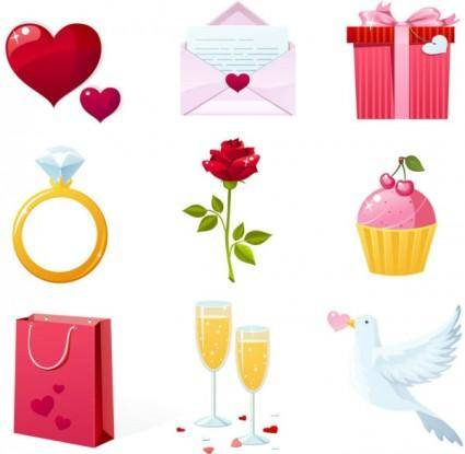 free vector Valentine elements vector