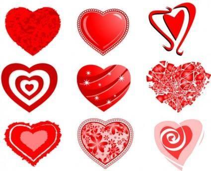 free vector Hearts vector