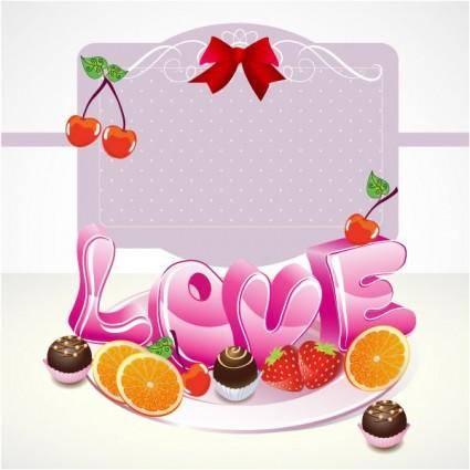 free vector Cute valentine 01 vector