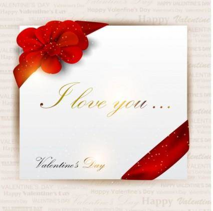 free vector Exquisite valentine39s day greeting card vector