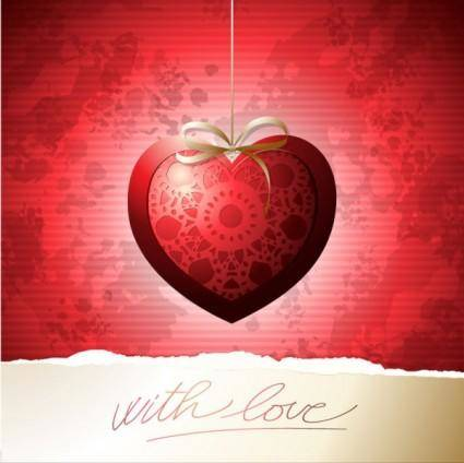 free vector Exquisite valentine39s day greeting card 01 vector
