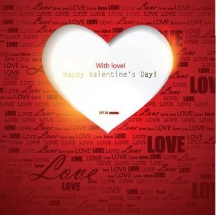 free vector Exquisite valentine39s day greeting cards 02 vector