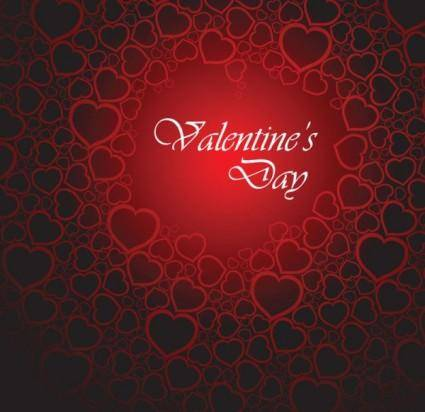 Exquisite valentine39s day greeting cards 03 vector
