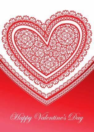 free vector Exquisite valentine39s day greeting cards 04 vector