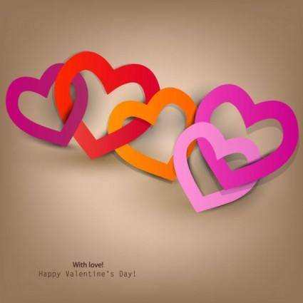 Valentine label elements 02 vector