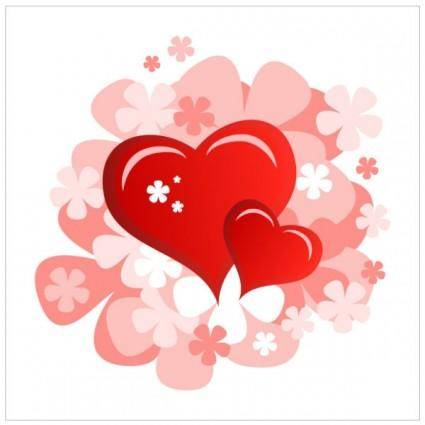 free vector Valentine39s day heartshaped card 06 vector