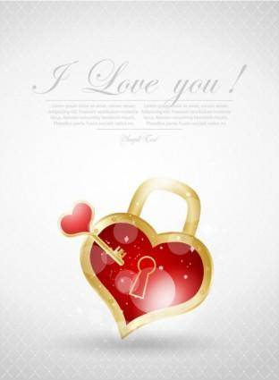 Valentine39s day greeting card 01 vector
