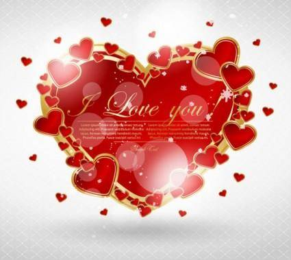 Valentine39s day greeting card 03 vector