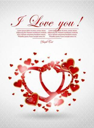Valentine39s day greeting card 04 vector