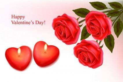 Elements of romantic valentine39s day vector