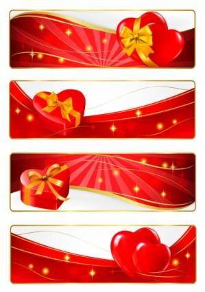 Elements of romantic valentine39s day vector