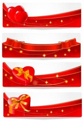Elements of romantic valentine39s day 4 vector
