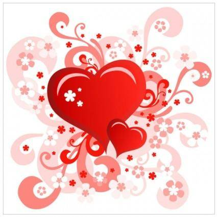 Heartshaped valentine39s day card 02 vector 25525