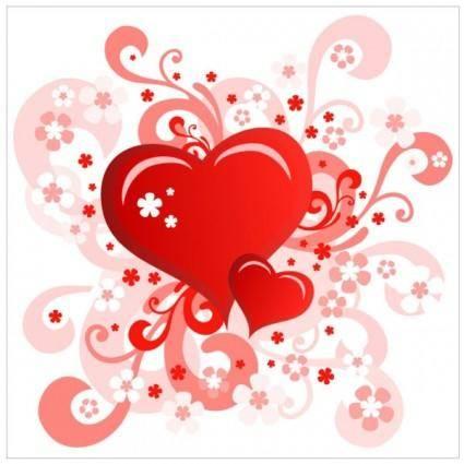 free vector Heartshaped valentine39s day card 02 vector