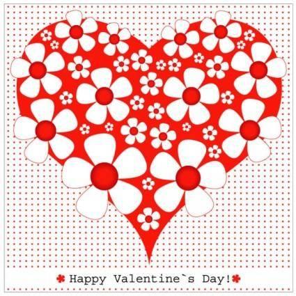 free vector Heartshaped valentine39s day card 03 vector