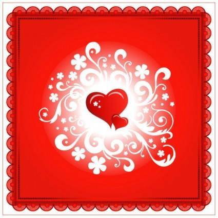 free vector Valentine39s day heartshaped card 05 vector