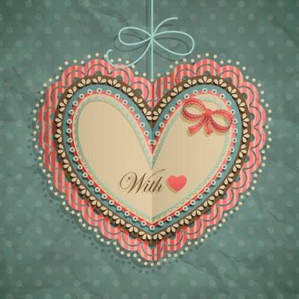 Valentine39s day heartshaped tag 02 vector