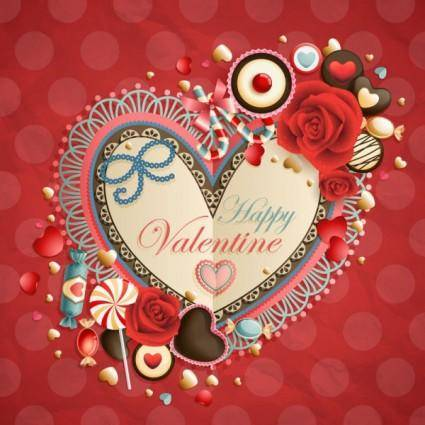 free vector Valentine39s day heartshaped tag 03 vector
