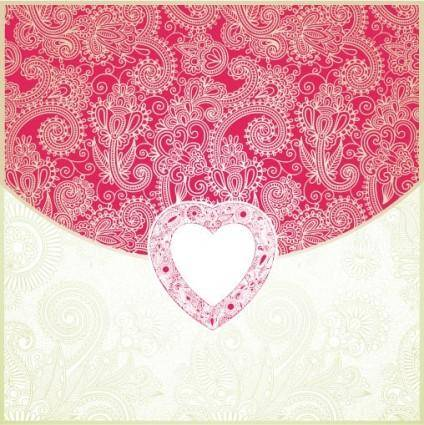 Heartshaped valentine39s day card 04 vector